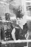 一名新美丽的妇女的纵向 免版税图库摄影