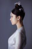 一名未来派年轻亚裔妇女的画象 库存图片