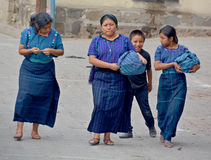 一名玛雅妇女的画象 库存照片