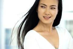 一名现代中国妇女的画象 免版税库存照片