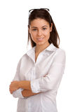 一名相当新女实业家的纵向 免版税库存照片