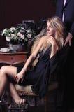 一名美丽的妇女的典雅的纵向 图库摄影