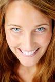 一名美丽的妇女的微笑的纵向 免版税图库摄影