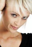 一名美丽的妇女的顶头画象 免版税库存照片