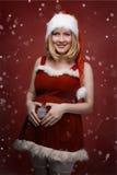 一名美丽的年轻孕妇的照片 免版税库存照片