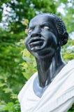 一名美国黑人的妇女(18的巴洛克式的雕象世纪),波茨坦 免版税库存图片