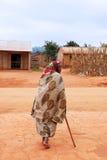 一名老非洲妇女, Pomerini,坦桑尼亚,非洲012 库存图片