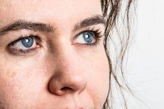 一名蓝眼睛妇女 库存照片
