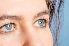 一名蓝眼睛妇女 图库摄影