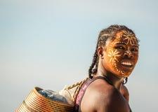 一名马达加斯加人的妇女的画象 图库摄影
