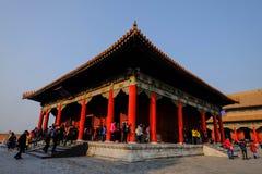 一在故宫北京中国里面的大厦 库存图片