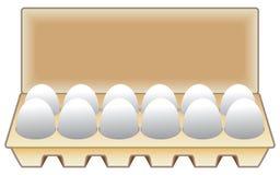 一在纸盒的十二个鸡蛋 向量例证