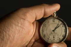 一块古色古香的手表 免版税图库摄影