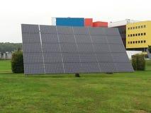 一块大太阳电池板 库存图片