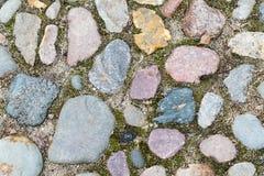 从一块大石头的纹理 免版税库存图片