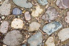 从一块大石头的纹理 库存图片