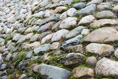 从一块大石头的纹理 免版税库存照片