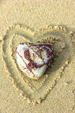 一块心形的石头 库存照片