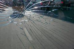 一块残破的玻璃的特写镜头 免版税图库摄影