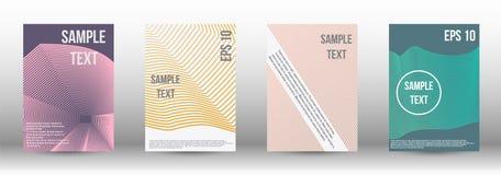 一块现代盖子设计模板 免版税图库摄影
