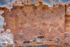 一块生锈的钢板 免版税库存图片