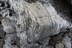 一块石头的纹理在挪威的山的 特写镜头 免版税库存图片