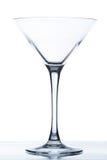 一块空的马蒂尼鸡尾酒玻璃 免版税库存照片