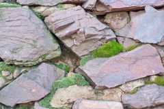 从一块粗砺的石头的墙壁 图库摄影