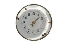 一块老手表的拨号盘 免版税图库摄影