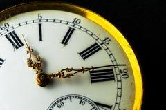 一块老手表的特写镜头 图库摄影