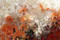 一块老水晶石头的背景在极端特写镜头的 免版税库存照片