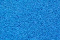 一块蓝色海绵的表面 免版税库存图片