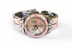 一块逗人喜爱的五颜六色的夫人手表 库存图片