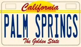 一块金州加利福尼亚汽车板材的例证 库存照片