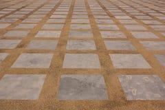 一块长方形大理石和磨石子地地板 库存照片