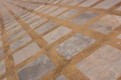 一块长方形大理石和磨石子地地板 免版税库存图片