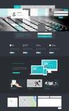 一块页网站设计模板 免版税库存照片