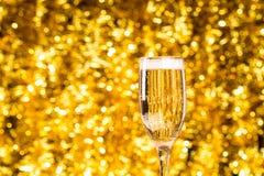 一块香槟玻璃 免版税库存图片