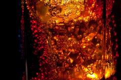 一块玻璃的边缘与饮料的 库存图片