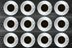 一块整洁的咖啡板材 图库摄影