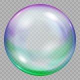 一大多彩多姿的透明肥皂泡 库存例证