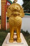 一头狮子的雕象在Wat Phra那 库存图片