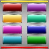 五颜六色的按钮传染媒介集合 免版税库存照片