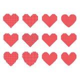 一套半音心脏 免版税库存图片