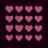 一套半音心脏 库存图片