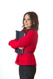一套古典服装的一个年轻成功的企业夫人 免版税图库摄影