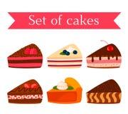 一套各种各样的鲜美曲奇饼-巧克力、坚果、莓、草莓和南瓜 r 库存例证