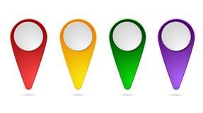 一套对地图的尖 向量例证