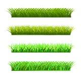 一套新鲜的草四行  图库摄影