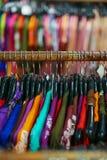 一套服装在商店 免版税库存图片